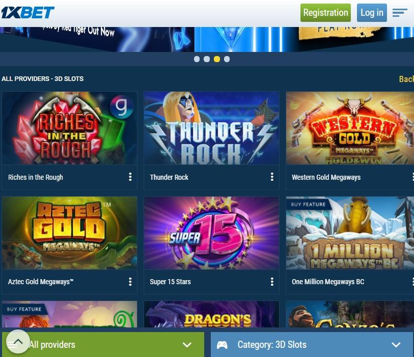 1xBet slots mobile casino